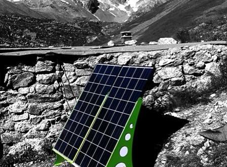 borne solaire