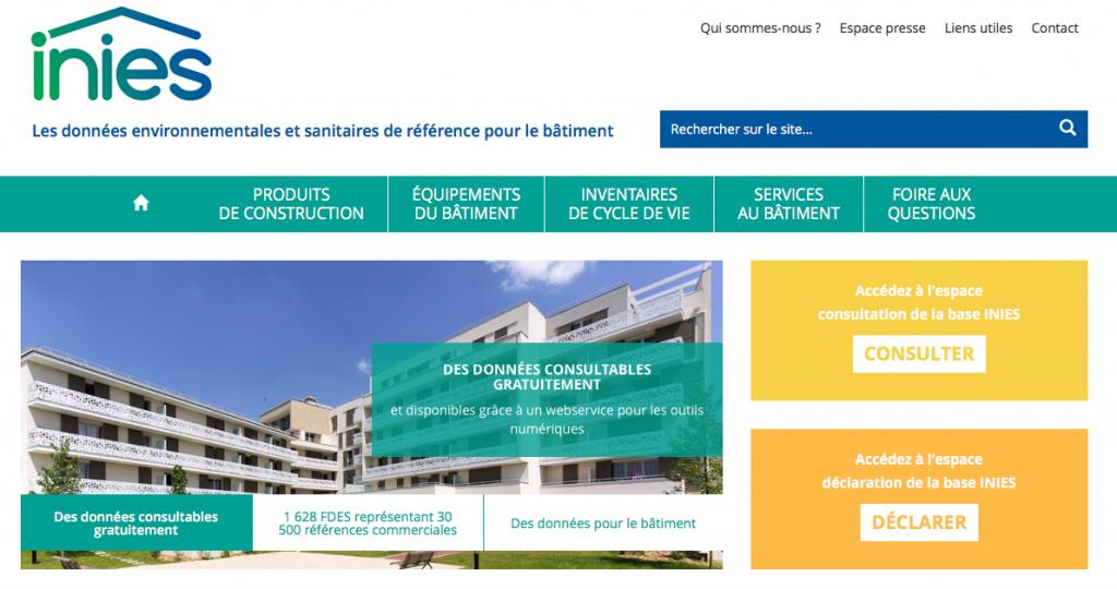 Nouveau site web pour les FDES et l'INIES